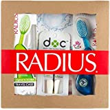 RADIUS Toothbrush with Travel Case and DOC Toothbrush Holder Gift Set, Variety Pack, Original