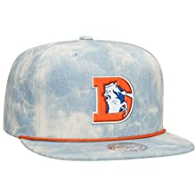Denver Broncos NFL Lite Acid Wash Denim Snapback Cap by Mitchell & Ness