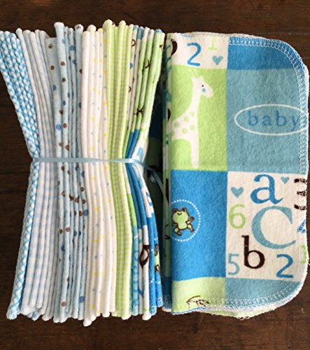 Cloth Baby Wipes Starter Kit. Set of 3 Dozen Wipes. Reusable Cloth Wipes. Baby Shower Gift. Eco Friendly. Reusable Cloth Napkins. 100% Cotton Flannel. Reusable Dryer Sheets. (Cloth Diaper Dryer compare prices)