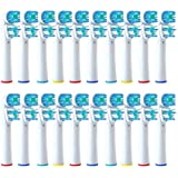 16 Generic Dual Clean Replacement Toothbrush Head Compatible For Braun Oral-b Electric Replacement Tooth Brush...