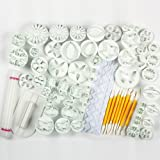 Marrywindix 21 Sets (68pcs)cake Decration Tool Set By Catalina Fondant Cake Cutter Mold Sugarcraft Icing Decorating Flower Modelling Tools