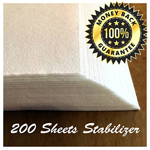 TAOindustry-Tear-Away-Stabilizer-Sheets-to-Fit-4-x-4-Hoops-with-Ebook-8-x-8-Inch-200-pack