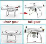 Qiyun Tall Landing Gear for DJI Phantom 1 2 Vision Quadcopter Wide & High Extend