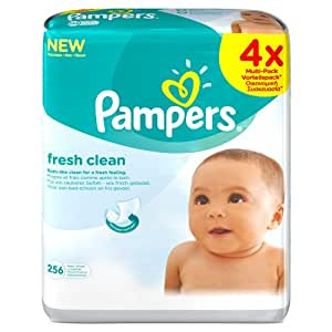 Pampers Fresh Clean Wipes - (Pack of 4) (256 Wipes)