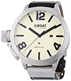 U Boat Classico 53 AS2 Men's Automatic Watch with Beige Dial Analogue Display and Black Leather Strap 5571