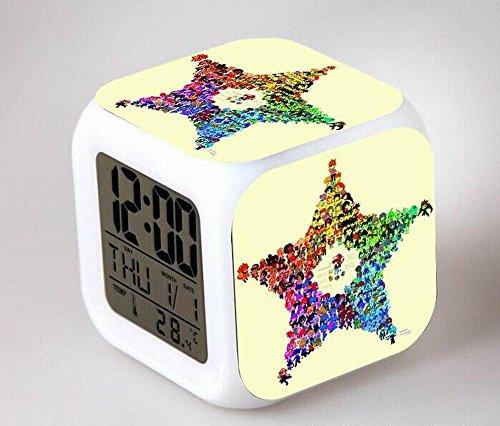 GUOHUA®Digimon Anime Cartoon création réveil coloré pour enfants réveil réveil numérique horloge analogique horloge lumineuse , # 2