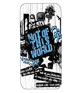 ColourCraft Typography Design Back Case Cover for SAMSUNG GALAXY J2 J200G