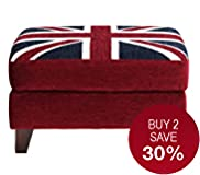 Small Union Flag Footstool