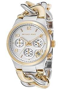 Michael Kors Watches Runway Twist Watch (Two Tone Gold)
