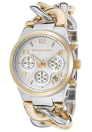 michael kors watches runway twist watch two tone gold. Black Bedroom Furniture Sets. Home Design Ideas