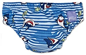 Bambino Mio Swim Nappy Diaper, Blue Shark, Large
