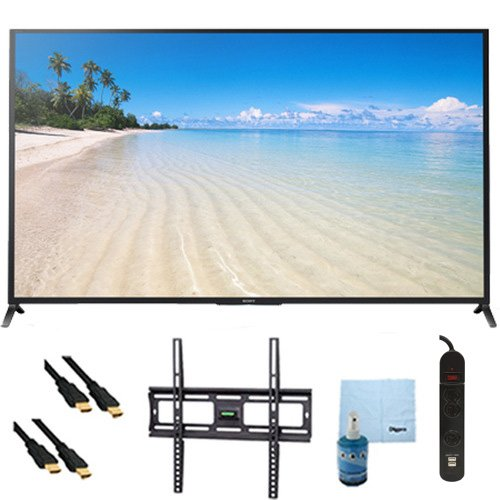 "60"" 1080P 120Hz Smart 3D Led Hdtv Wifi Plus Mount & Hook-Up Bundle - Kdl60W850B. Bundle Includes Tv, Flat Tv Mount, 3 Outlet Surge Protector W/ 2 Usb Ports, 2 -6 Ft High Speed Hdmi Cables, Performance Tv/Lcd Screen Cleaning Kit, And Cleaning Cloth."