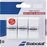 Babolat Pro Tacky Tennis Overgrip 12 Pack - White - Very Tacky & Absorbant, One Size/White