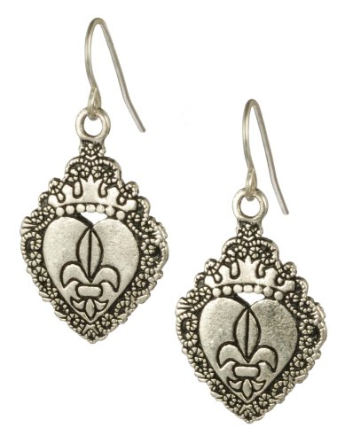 Cast Base Metal Fleur-de-Lis Earrings