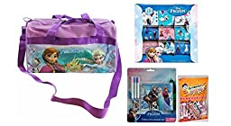 Disney Frozen Elsa & Ana Duffle Bag with Stickers, Stationery Set and Candy Rolls