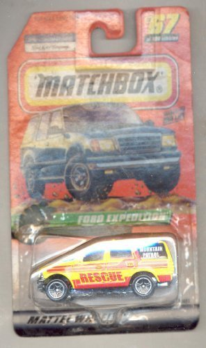 matchbox-1999-67-100-series-14-ranger-patrol-yellow-red-ford-expedition-164-scale-by-matchbox