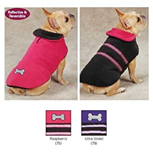 Zack & Zoey UM3939 30 75 Reflective Thermal Jacket for Dogs, XX-Large, Raspberry