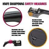 PriorityChef Knife Sharpener, 2 Stage Sharpening System for Knives, Black