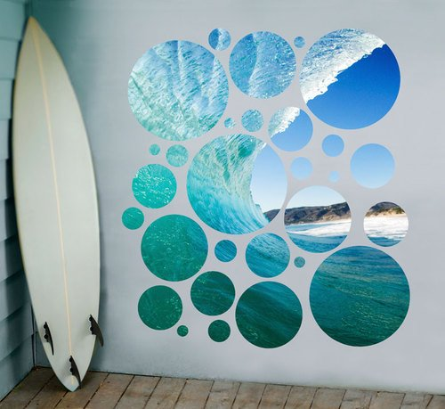 Export Portal Word Art For Walls Decor: Funky Surfing Wall Decals For The Fish In The Family