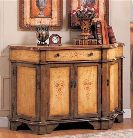 Cheap Console Table Bombe Chest Brown & Oak Finish (VF_AZ00-42215×21898)