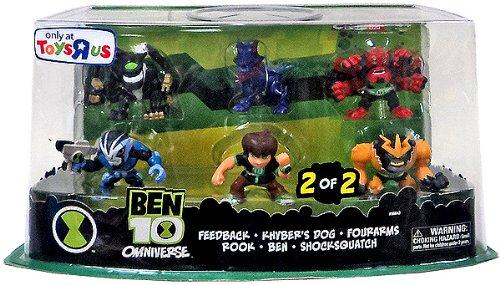 Features of Ben 10 Super Deformed Figure Set, 6-Pack (Ben, Rook, Kyber ...