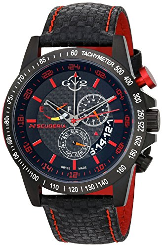 GV2-by-Gevril-Mens-9903-Scuderia-Analog-Display-Swiss-Quartz-Black-Watch