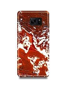 Shopmetro Brown & White Marble Samsung Note 7 Case-1129