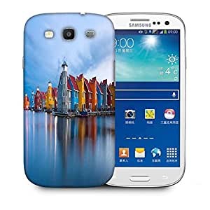 Snoogg Colorful Houses By The Lake World Designer Protective Phone Back Case Cover For Samsung Galaxy S3