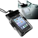 eForCity® Black Waterproof Bag Case Lanyard Compatible With Apple® iPod Nano® 7 (7th Generation)
