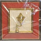Chandni Divine Brass Ganesha Wall Frame Ganesha Head - Red
