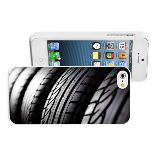 Apple iPhone 4 4S 4G White 4W856 Hard Back Case Cover Color Close Up Tires Stack (Tire Stack Covers compare prices)