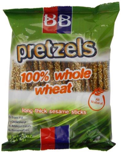Beigel Beigel 100% Whole Wheat Long Thick Sesame Stick Pretzel 141 g (Pack of 8)