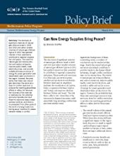 Can New Energy Supplies Bring Peace Eastern Mediterranean Energy