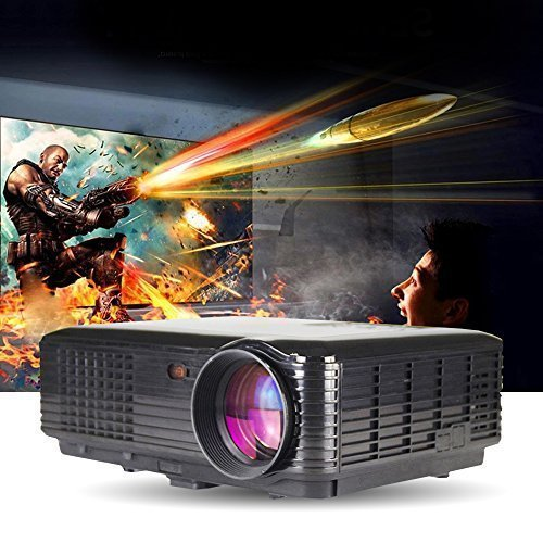 3500 lumens 3D Smart Projector Full HD 1080p Cinema Support YPbPr, TV, HDMI Input, USB, VGA Port, 3-in-1 AV In for Home Cinema Theater, Child Games (Projector 3d 1080p Full Hd compare prices)