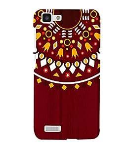 Mandela Indian Rangoli 3D Hard Polycarbonate Designer Back Case Cover for VIVO Y27L :: Y 27L