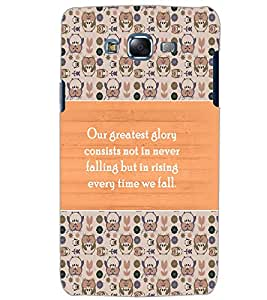 SAMSUNG GALAXY J7 QUOTE Back Cover by PRINTSWAG