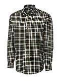 Cutter & Buck Men's Big-Tall Long Sleeve Hansen Plaid Woven Shirt