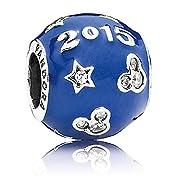 Pandora Mickey Mouse Disney Parks Exclusive Happy Blue Year 2015 Disneyland Charm