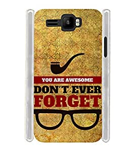 You Are Awasome Forget Soft Silicon Rubberized Back Case Cover for Intex Aqua R3 Plus