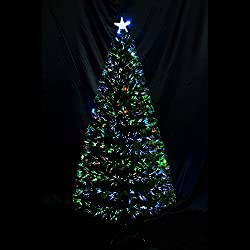 6' Artificial Fiber Optic w/ LED Lights Holiday Lighted Christmas Tree