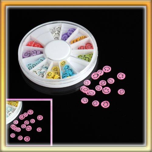 LY Stylish 12 Color Smiling Face Nail Art Diy Nail Sticker Decoration One Box P0645