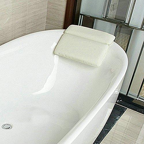 Angelbubbles お風呂 枕 バスピロー 半身浴 高品質PVC製 (ホワイト)