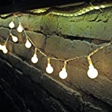 Dailyart 13feet/4m Long Globe String Light Starry Light for Gardens, Home, Wedding, Christmas Party (Warm White), Battery-powered