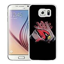 buy Arizona Cardinals White Samsung Galaxy S6 Screen Cover Case Genuine Design High Quality