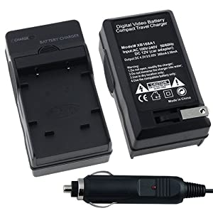 Olympus Li-42B AC / DC Replacement Battery Charger Set for Olympus Stylus 1040 / 1050 SW / 1060 / 1070 / 1200 / 550WP / 700 / 7000 / 7010 / 7020 / 7030 / 7040 / 710 / 720 SW / 725 SW / 730 / 740 / 750 / 760 / 770 SW / 780 / 790 SW / 820 / 830 / 840 / 850