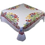 """Tulip Tablecloth 52"""" Square Cotton"""