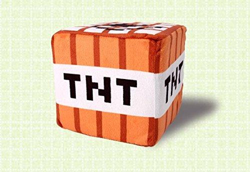 【SBK-0156】Minecraft(マインクラフト) TNT クッション ぬいぐるみ ※ ミニcreeper付!! SBK