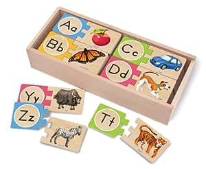 Melissa & Doug Self-Correcting Letter Puzzles