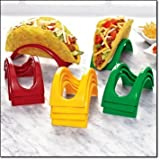 Avon Taco Holders Plastic Set Red Green Yellow