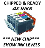 4x CHIPPED COMPATIBLE HP 364XL FULL SET COMBO PACK INK CARTRIDGES HP364. LATEST 2014 CHIP AND SHOW INK LEVELS. OFFICEJET 4610, 4620, 4622 PHOTOSMART B8553, B8558, C5324, C5370, C5373, C5380, C5383, C5388, C5390, C5393, C6300, C6324, C6340, C6350, C6380,